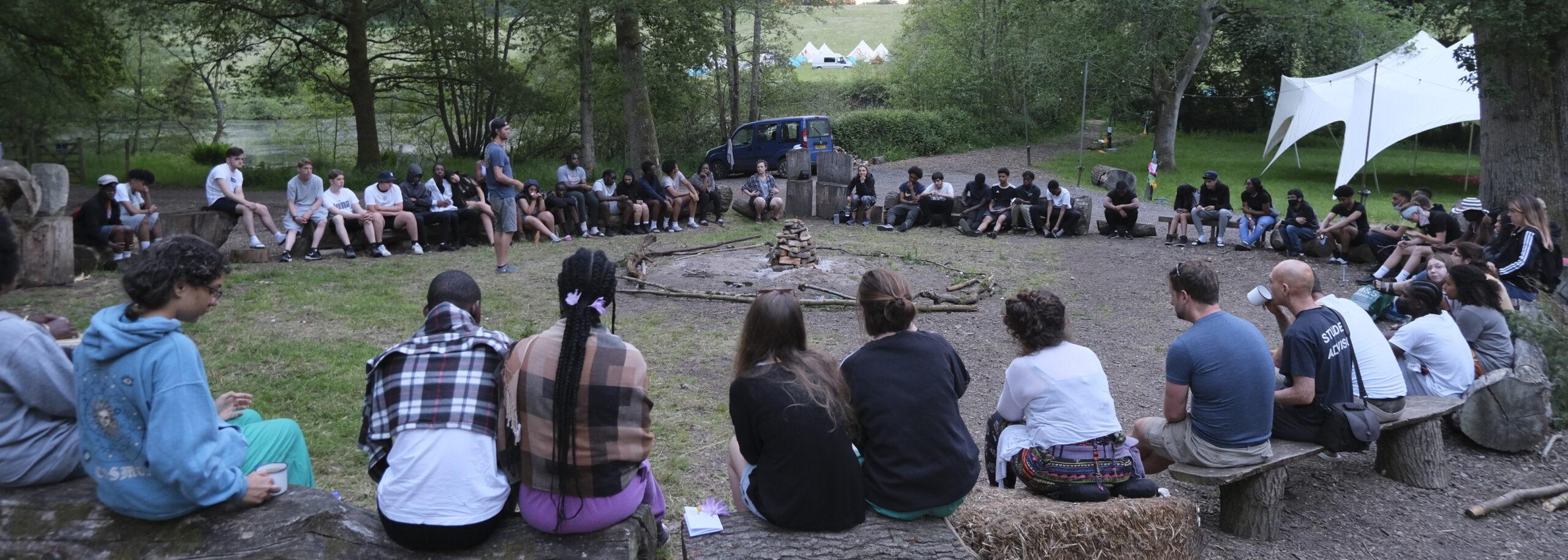 talking circle outdoors